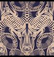 repaint seamless pattern ram vector image