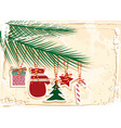 Retro Cut Out Christmas Background vector image vector image