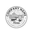 rustic vintage farm logo design vector image vector image