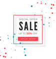 sale advertisement banner special offer sale vector image