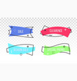 sale discount promo banner tag ribbon vector image