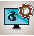 screen gear system symbol vector image vector image