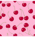 seamless pattern cherry textile print vector image vector image
