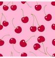 Seamless pattern cherry textile print