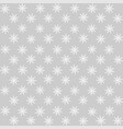 seamless pattern christmas snowflakes isolated vector image