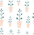 seamless pattern with cute hand drawn flowes vector image