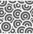Seamless pattern with white and black circles vector image vector image