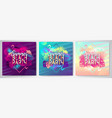 set colorful summer beach party posters vector image vector image