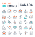 Set Flat Line Icons Canada vector image vector image