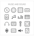 set simple icons with musical objects vector image