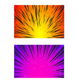 set sun rays or explosion boom for comic books vector image