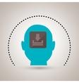 silhouette download app icon vector image vector image