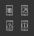 smartphone chalk icons set vector image