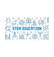 stem education concept outline horizontal vector image