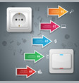 switch socket icon abstract business infographic vector image vector image
