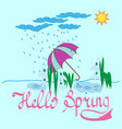 t shirt typography graphic with quote hello spring vector image vector image