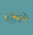 teamwork teamplay cooperation vector image