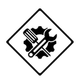 technical workshop stock emblem icon vector image vector image