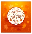 Thanksgiving day label vector image