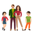 happy family in casual style vector image
