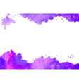 Background wit purple watercolor spot vector image