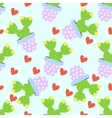 Cactus pattern background Cute cacti vector image