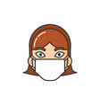 allergic person wearing medical mask image vector image