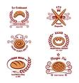 Bakery bread logos vector image vector image