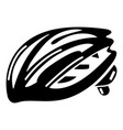 bike helmet protection icon simple black style vector image vector image