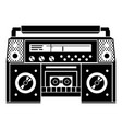 boombox icon simple style vector image vector image