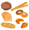 brown tommy sliced bread long loaf vector image vector image