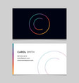 business-card-letter-c vector image vector image