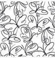 butterflies hand drawn seamless pattern vector image