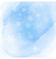 christmas snowflakes on a watercolour background vector image vector image