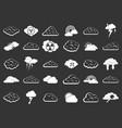 cloud icon set grey vector image