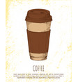 coffee cup isolated on bright background banner vector image vector image