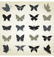 Collection the butterfly vector image vector image