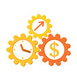concept time is money make money income growth vector image vector image