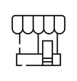corner store line icon concept sign outline vector image