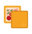 delicious sandwich isolated icon vector image