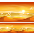 Deserts and sandstorms vector image vector image