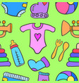 doodle of baby style object vector image vector image