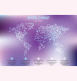 dotted world map business vector image