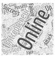entrepreneur online Word Cloud Concept vector image vector image