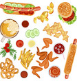 fast food flat design vector image