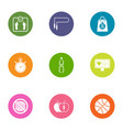 fitness exercise icons set flat style vector image vector image