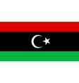 Flag of Libya vector image vector image