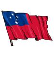 flag of Samoa vector image vector image