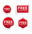 free shipping red label sticker vector image vector image
