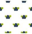fresh blueberries with leaves pattern flat vector image